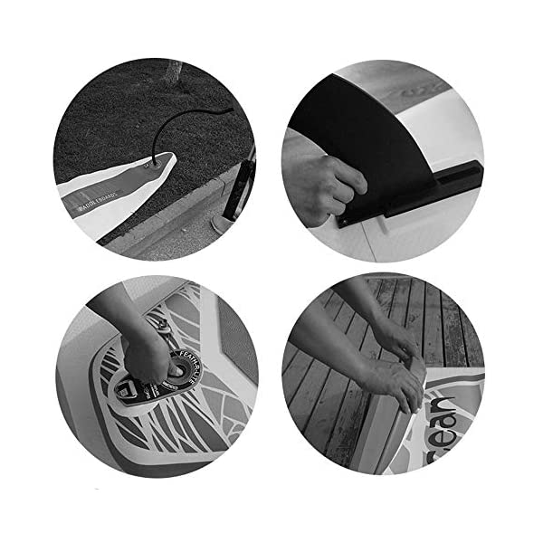 Stand Up Paddel Gonfiabile Fiume Viaggio Gonfiabile SUP Stand Up Paddle Consiglio Kit 6 Pollici Spessore Blu per Giovani… 3 spesavip