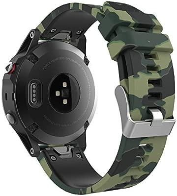MoKo Garmin Fenix 6/6 Pro/5 Banda, Silicona Reemplazo Correa con 2pcs Destornilladores para Garmin Forunner 935 Smart Watch, 13.5cm-22.5cm, no Adapta ...