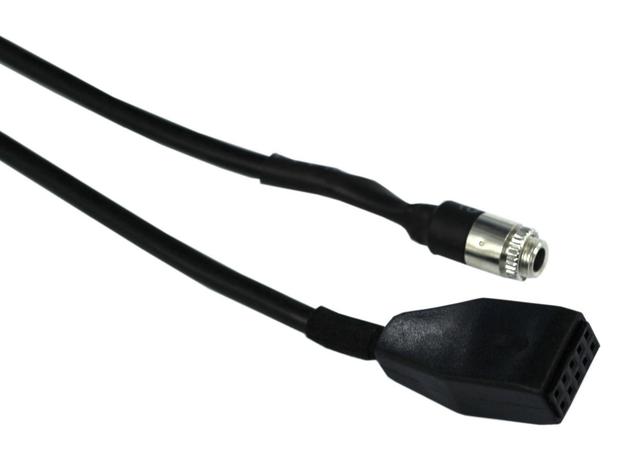 HAIN@Car Female 3.5MM AUX Input Adaptor CD Changer Cable for BMW E46 5558976082