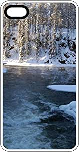 Snowy Country Scene With River Clear Plastic Case for Apple iPhone 4 or iPhone 4s