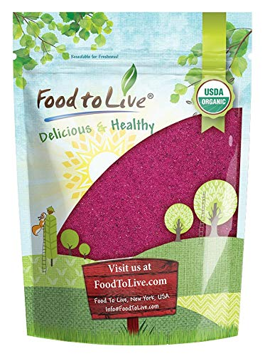 Organic Red Dragon Fruit Powder, 8 Ounces - Non-GMO, Freeze-Dried Pitaya, Raw Pitahaya, Vegan Superfood, Bulk, Non-Irradiated, Pesticide-Free, Rich in Vitamins and Minerals, Great for Drinks by Food to Live (Image #7)