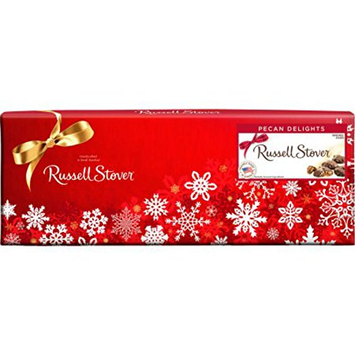 Russell Stover Pecan Delights Holiday Gift Box Pecans & Caramel Covered in Milk Chocolate 11 oz