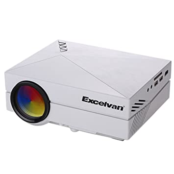 Excelvan GM60 - LED Portatil Mini Proyector 1080P (1000 Lumenes, 800x480P, Proyeccion 34