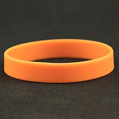 Casual Night-light Rubber Wristband Flexible Silicone Wrist Band Cuff Bracelet For Outdoor Sports Estimated Price £1.49 -