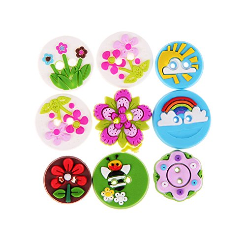 Buttons Baby Accessories Shops - 65pcs 15mm DIY Handmade Accessories Button Baby Decorative Sewing Buttons Resin 2 Holes For Scrapbooking Mix Colors