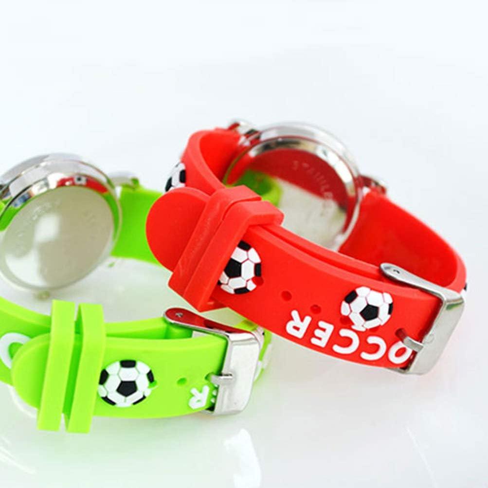 HEMOBLLO Enfants Montres Enfants Enfant en Bas Âge Montre-Bracelet Temps Enseignant Garçons Filles Cadeau d'anniversaire Rouge