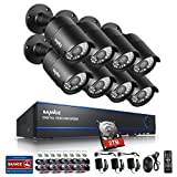 Cheap Sannce 1080P 8CH Video Security System with 2TB Hard Drive + 8HD 1920*1080p CCTV Bullet Cameras (IP66 Weatherproof Metal Housing, 100ft IR LED Night Vision, Motion Detection)