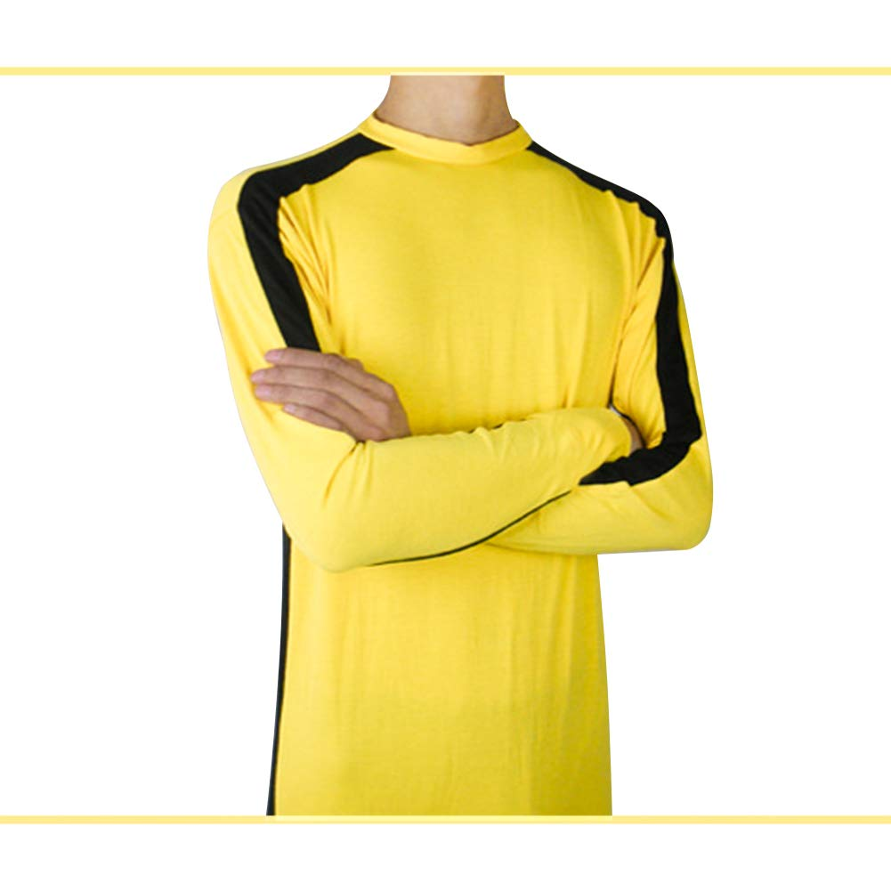Fuyingda Adult Children Unisex Martial Arts Costumes Chinese Kung Fu Yellow Jumpsuit Fighting Movie Cosplay Death Game