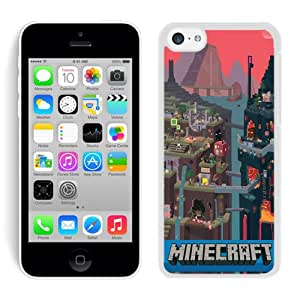 iPhone 5C Case,Excellent protection Minecraft 1 White For iPhone 5C Case
