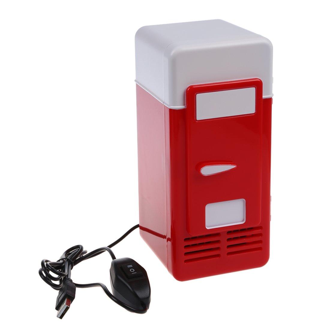 TOOGOO(R) Mini USB Fridge (Red)