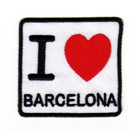 Parche para planchar con dise/ño de I Love Barcelona