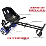 """Hoverkart Seat attachment for hoverboard or self balance scooter. Heavy duty frame with universal attachments for 6.5"""", 8"""" 10"""" wheel. All black color"""