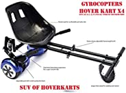 Hoverkart Seat Attachment for Hoverboard or self Balance Scooter. Heavy Duty Frame with Universal attachments