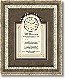 50th Anniversary - 15'' X 18'' Framed Wall Clock