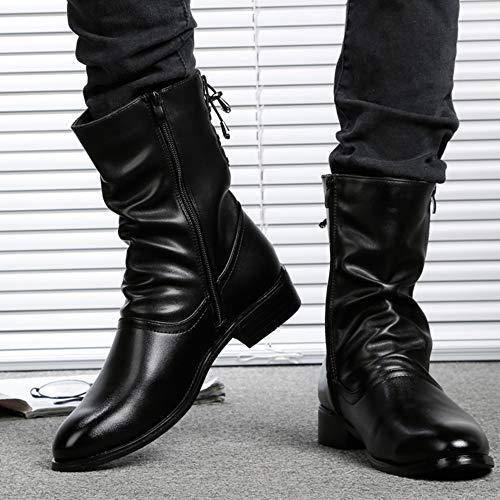 Stivali in per Mens Stivali nihiug Stivali Stivali in Boots Inverno Adulti Alti Pelle per E Classic Il Deserto in Blackvelvet Autunno Martin A Punta OIqfU