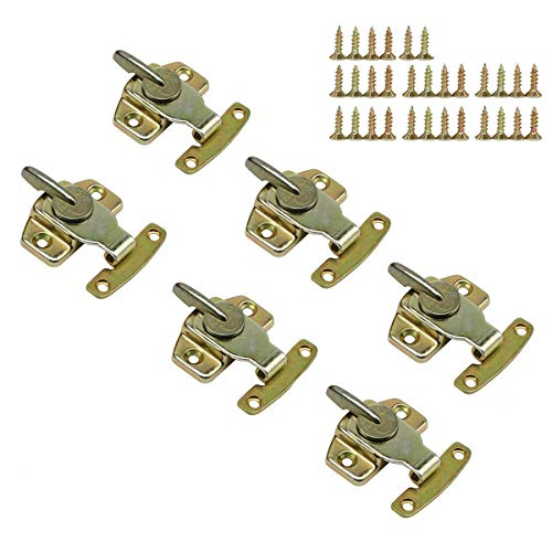 LepoHome 6 Pieces Metal Table Locks Dining Training Table Buckles Connectors Hardware Accessories - Brass Plated ()