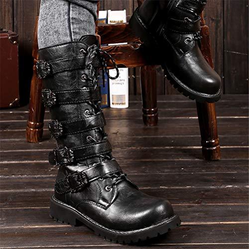 Botte Britannique Militaires Cowboy Étanche Mens 43 Bottes Antidérapant D'équitation Lacets Ceinture À Saisons Quatre Boucle Cowboy Jiahe Martin De RxYBwvqBE