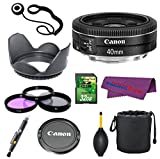 Canon EF 40mm f/2.8 STM Lens Bundle with 32GB Memory Card + 3pc Filter Kit and More!