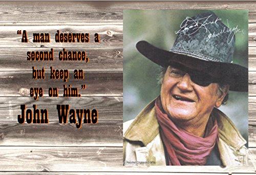 Old Tin Sign John Wayne A Man Deserves A Second Chance