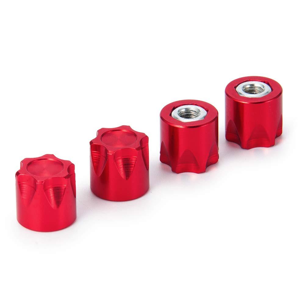 10 RC Crawler Traxxas TRX4 Axial SCX10 90046 D90 10.5 x 11mm Que-T 4pcs//Set Aluminium Wheel Rim Center Cap M4 Nut for 1