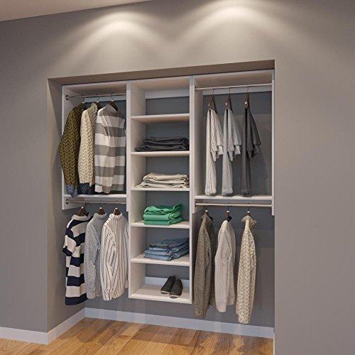 72' Closet Storage (Modular Closets 6 FT Closet Organizer System - 72 inch - Style C)