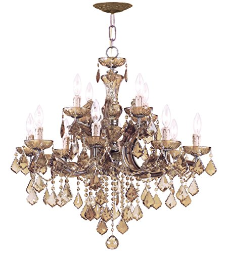 Crystorama 4479-AB-GT-MWP Crystal Eight Light Chandeliers from Maria Theresa collection in - Ab Gt Mwp Crystal