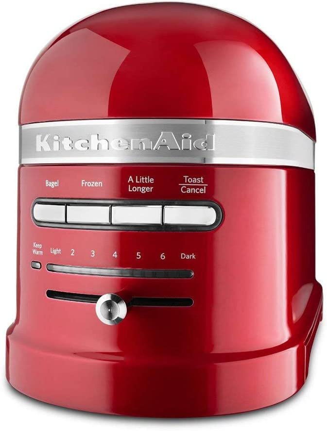 KitchenAid KMT2203CA Toaster - Candy Apple Red Pro Line Toaster (Renewed)