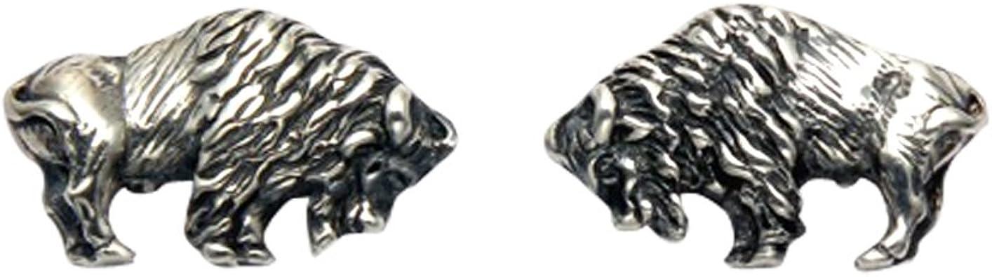 Sterling Silver Buffalo Stud Earrings