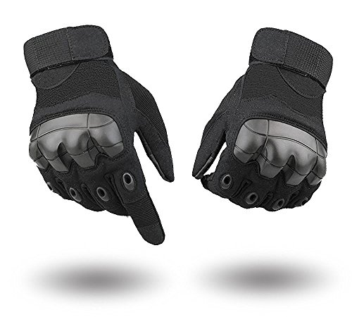 Amazon #LightningDeal 56% claimed: Full Finger Outdoor Touch Screen Tactical Gloves Black M