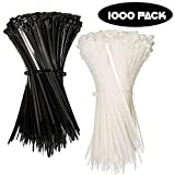 Nylon Zip Ties (BULK PACK OF 1000) 8 Inch Cable