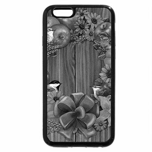 iPhone 6S Plus Case, iPhone 6 Plus Case (Black & White) - AUTUMN WREATH