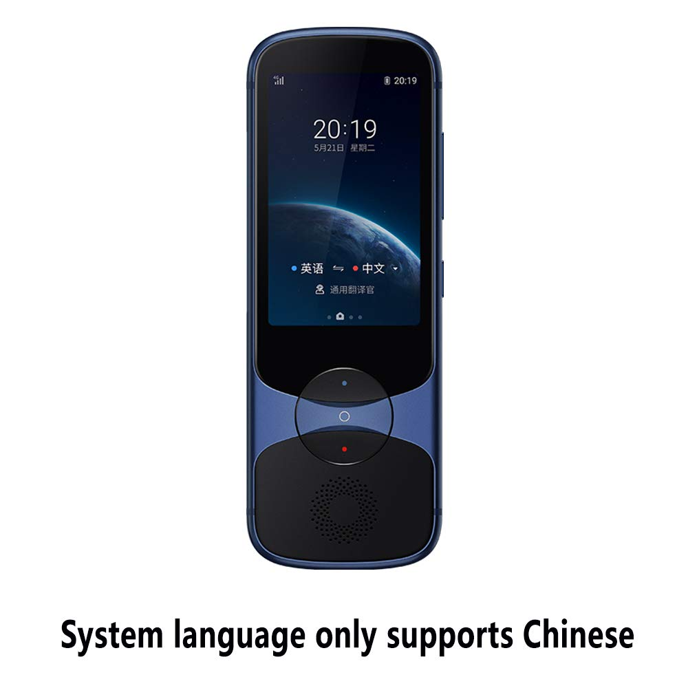 iFLYTEK Easytrans 3.0 Pocket Portable Smart AI Electronic Voice Language Translator Device,2-Way Translation of Chinese to 59 Languages,Offline or Picture Translation,for Travel and Business (Blue)