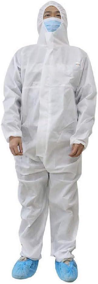 FTNJG Desechable Ropa de protección, Traje Protector con Capucha Polvo y partículas nucleares antiestático para Hombres/Mujeres