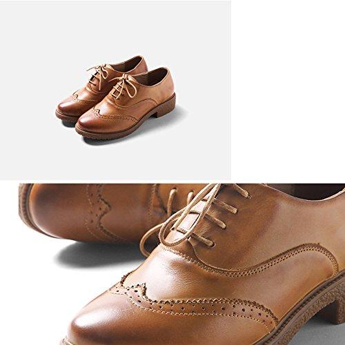 Disponibles LIANGJUN 5 UK4 Femmes L EU36 230mm Couleur Mode Marron 6 2 Couleurs Marron Bas Tailles Bottines Escarpins taille Chaussures Talons xxqadTwP