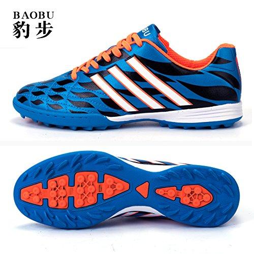 Xing Lin Fußballschuhe Fußball-Schuhe Männer Ag Fußball Schuhe Spike Erwachsenen Training Spiel Künstliche Grünland Grundschule Kinder Männer, 38,8003-2 Gebrochen Nagel Blau