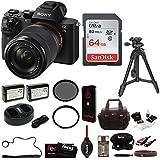 Sony Alpha a7II Interchangeable Digital Lens Camera w/ 28-70mm Lens plus 64GB Deluxe Accessory Bundle