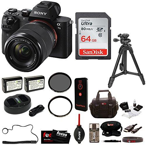 Sony Alpha a7II Interchangeable Digital Lens Camera w/ 28-70mm Lens plus 64GB Deluxe Accessory Bundle by Sony