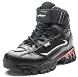 #6: QOMOLANGMA Men's and Women's Leather Hiking Boot Waterproof Lightweight Motorcycle Boots For Trail Trekking Outdoor