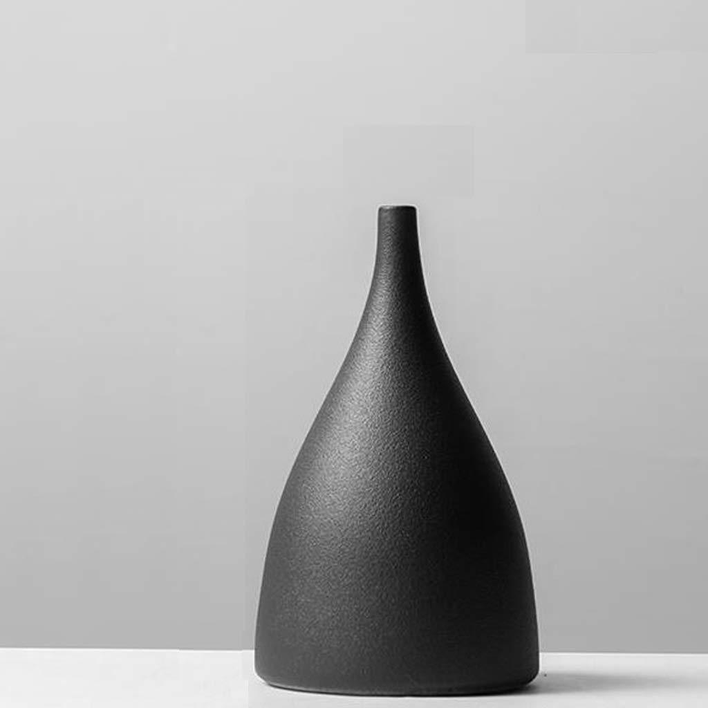 クリエイティブセラミック花瓶装飾セラミック手作りアートフラワーフラワーアレンジメント飾り SHWSM (Color : B) B07SK5BLFQ B