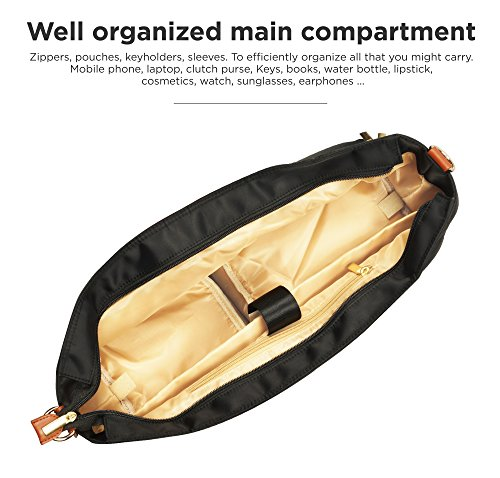 Breast Pump Bag for Work with Rich Tan Handles Staging Mat Sophisticated Design That Suits Workplace Thermally Lined Compartments Perfect Gift for New Moms (Solid Black) by flybold (Image #4)