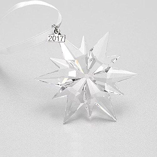 Glass Snowflake Friend Ornament - XIANGBNA 2017 Christmas Crystal Star Snowflake Ornaments