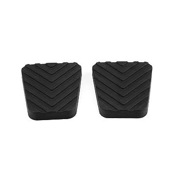 Almohadillas del pedal del embrague de freno, 1 par de almohadillas de goma para el