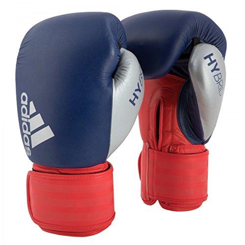 adidas Hybrid 200 Boxing Gloves, Blue/Red, 12 oz
