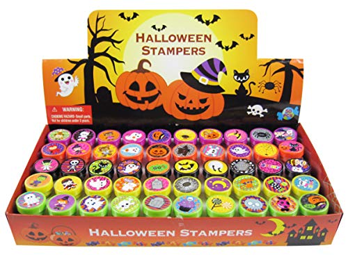 TINYMILLS 50 Pcs Halloween Assorted Stampers for