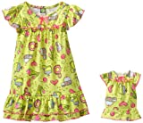 Dollie & Me Little Girls'  Candy Print Nightgown With Doll Outfit
