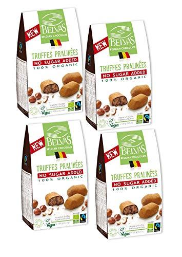 (Belvas Hazelnut Praline Truffles - No Added Sugar Dark Chocolate 3.5oz (4 Boxes))