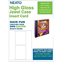 High Gloss Jewel Case Insert Card - 100 Total Insert Cards - Online Design Studio Access Code Included