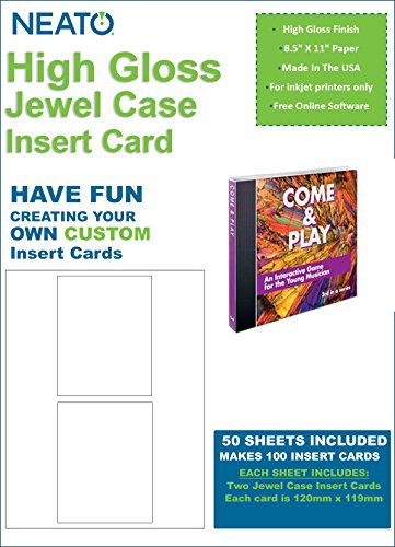 Case Dvd Slim Matte Inserts - High Gloss Jewel Case Insert Card - 100 Total Insert Cards - Online Design Studio Access Code Included