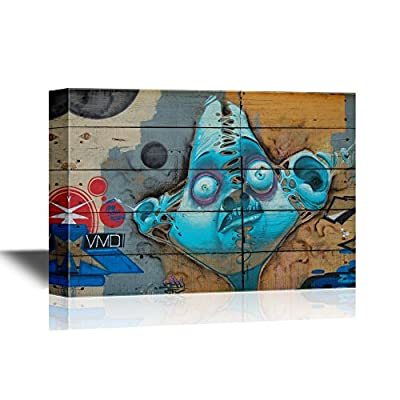 Canvas Wall Art - Abstract Graffiti - Gallery Wrap Modern Home Art | Ready to Hang - 24x36 inches
