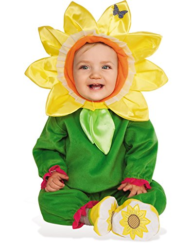 Rubie's Costume Co. Baby Sunflower Costume, As Shown, Toddler - Flower Headpiece Costume